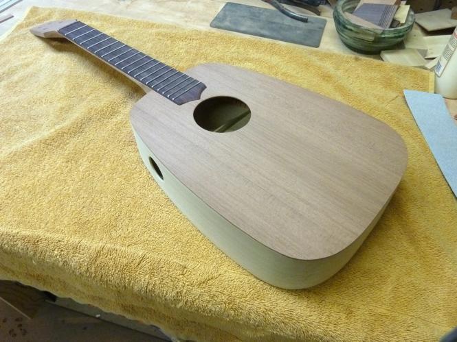 Acoustic, tenor, KeyStone ukulele with sideport