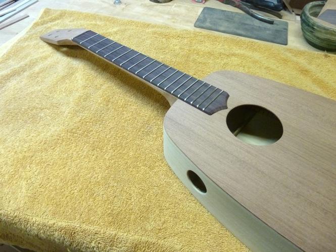 Indian Rosewood fretboard on KeyStone acoustic, tenor ukulele