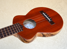 <strong>Decadent</strong> – Semi-hollow, HardBody, Flattop, FatBottom, Electric, Super-Soprano Ukulele in Zebrawood & Padauk